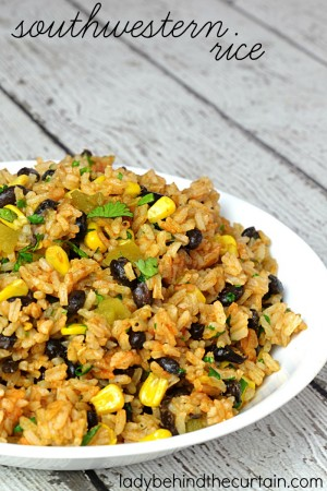 Southwestern Rice | Need a new side dish to serve on taco night? I have some good news you probably have most of the items in this recipe already in your pantry!