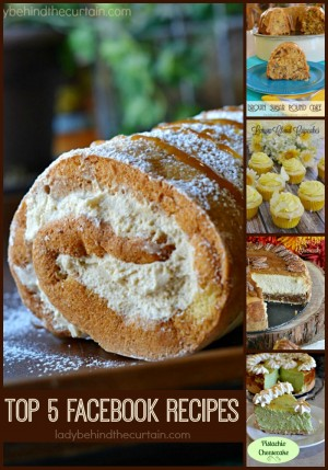 Top 5 Facebook Recipes | You liked them and here they are all together! I learned TWO things from doing this research One, you LOVE cheesecake and TWO you love desserts! Here you will find 5 delicious desserts perfect for any celebration, potluck or barbecue!