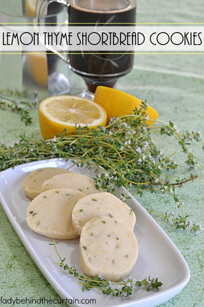 Lemon Thyme Shortbread Cookies   These unique cookies were perfect at my ladies luncheon!