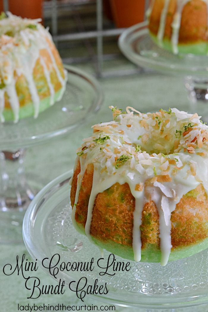 Mini Coconut Lime Bundt Cakes | I made these melt in your mouth cakes and they are by far my new favorite cake!