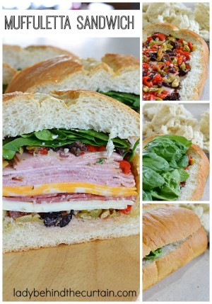 Have you ever had a Muffuletta Sandwich? It's one of my favorite sandwiches! Full of meat, cheese, olives and roasted peppers just to name a few ingredients. Simply the best Summertime sandwich!