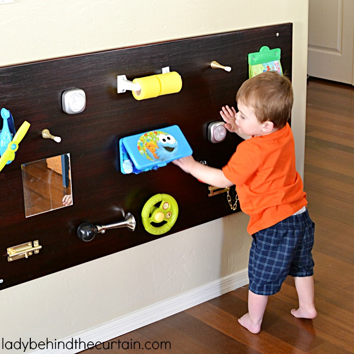 Toddler DIY Sensory Board