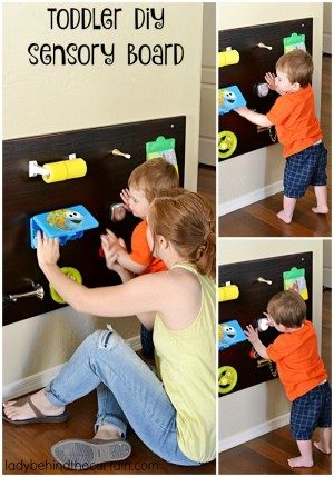 Toddler DIY Sensory Board | To make playtime more enjoyable cusomize a play board to suite your childs needs.