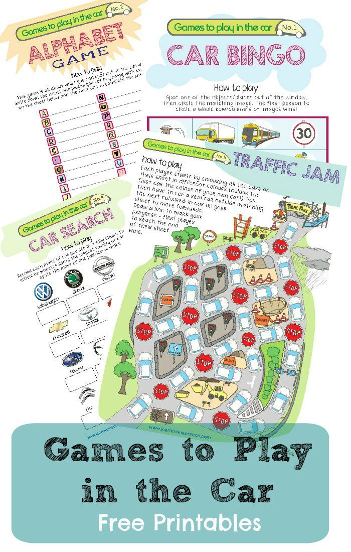 This is a picture of Luscious Travel Games Printables