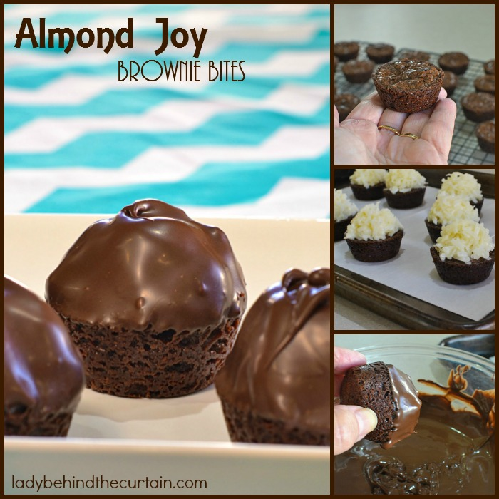 Almond Joy Brownie Bites | Give your taste buds a dose of joy with this dessert for Father's Day! It's super easy to make and tastes just like an Almond Joy Bar.