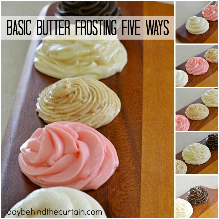Basic Butter Frosting Five Ways   Add different ingredients to this basic frosting recipe and create new flavors.