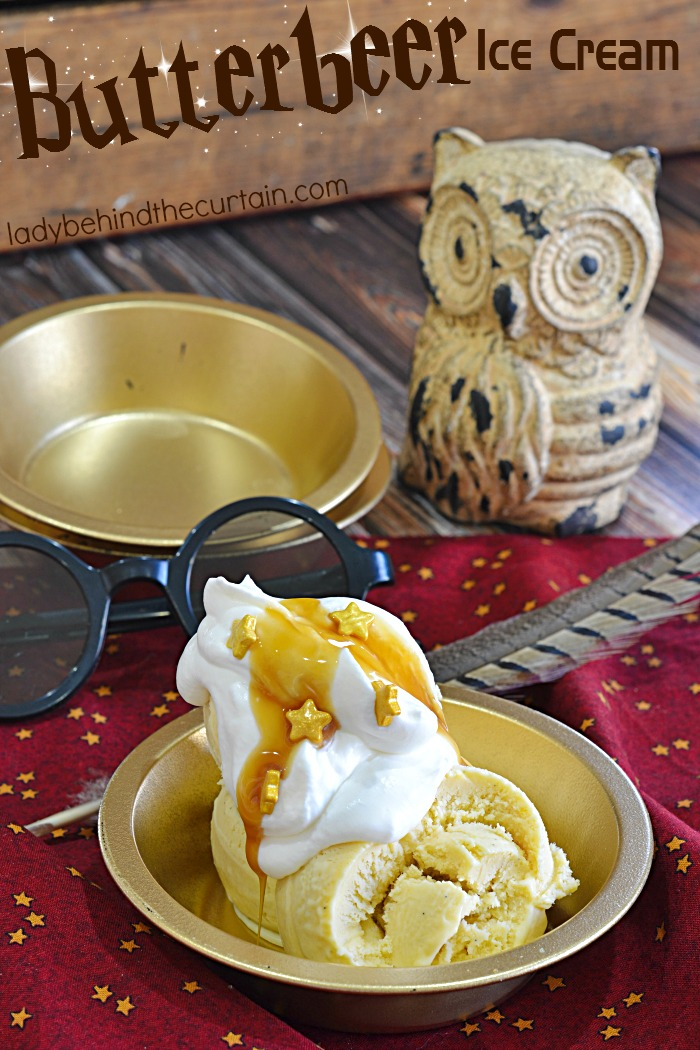 Butterbeer Ice Cream   Celebrate summer and The Wizarding World of Harry Potter with this delicious cream Butterbeer ice cream.