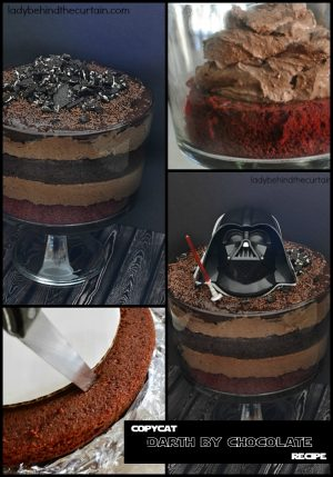 Copycat Darth by Chocolate Recipe | Eight layers of chocolate! Bring a little bit of the Disney magic to your kitchen with this Star Wars Season of the Force Disneyland Dessert!