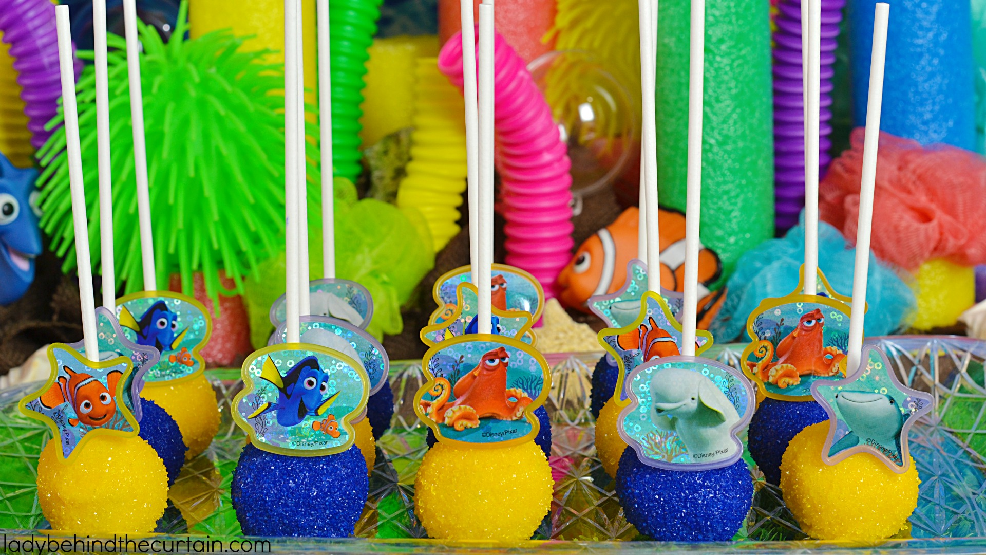 Finding Dory Cake Batter Pops