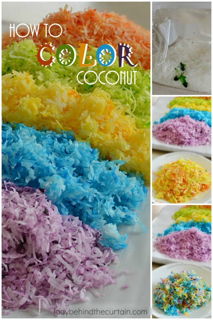 How to Color Coconut