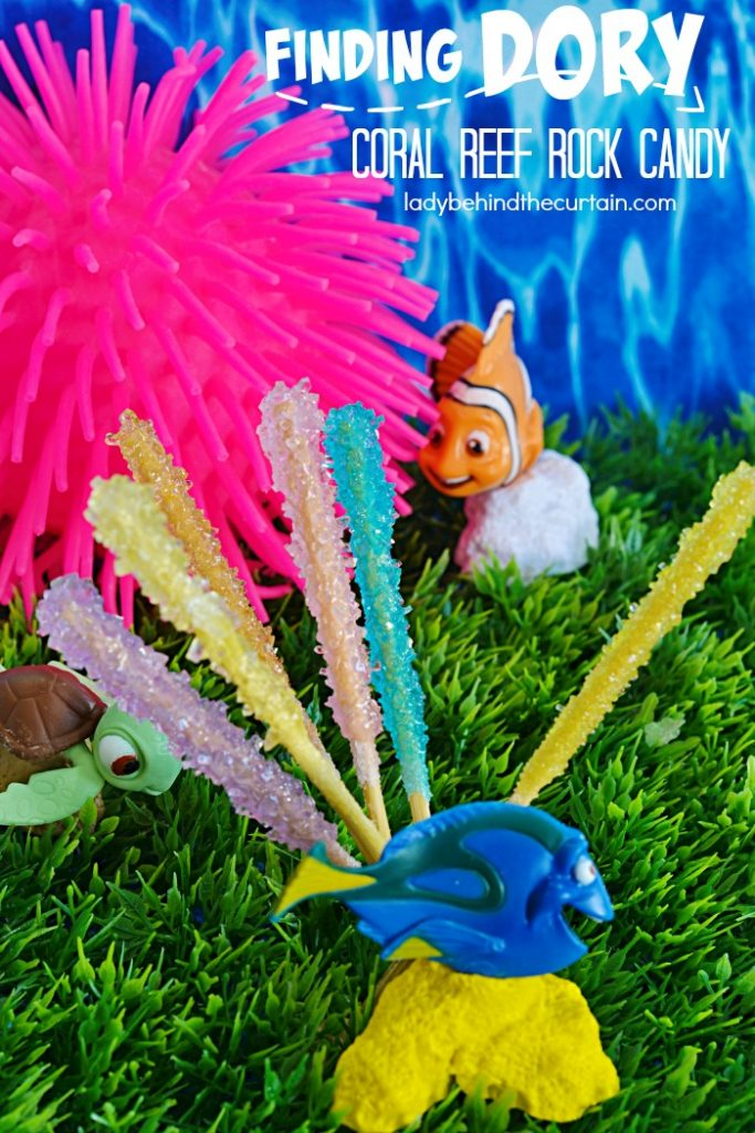How to Make Finding Dory Coral Reef Rock Candy | With just two ingredients you can create your own science project this summer by making your own rock candy!