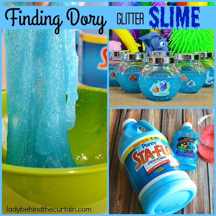 How To Make Finding Dory Glitter Slime | Create a fun and easy activity for the kids this summer and celebrate the release of the new movie Finding Dory by making Glitter Slime!