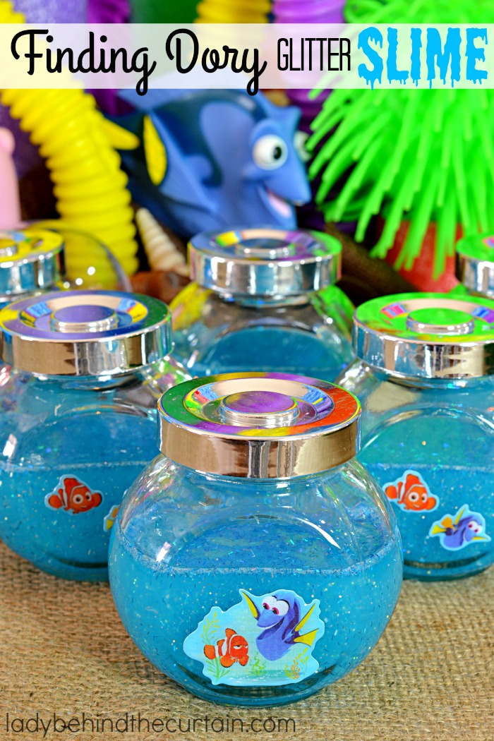 How to make finding dory glitter slime for Target fish bowl