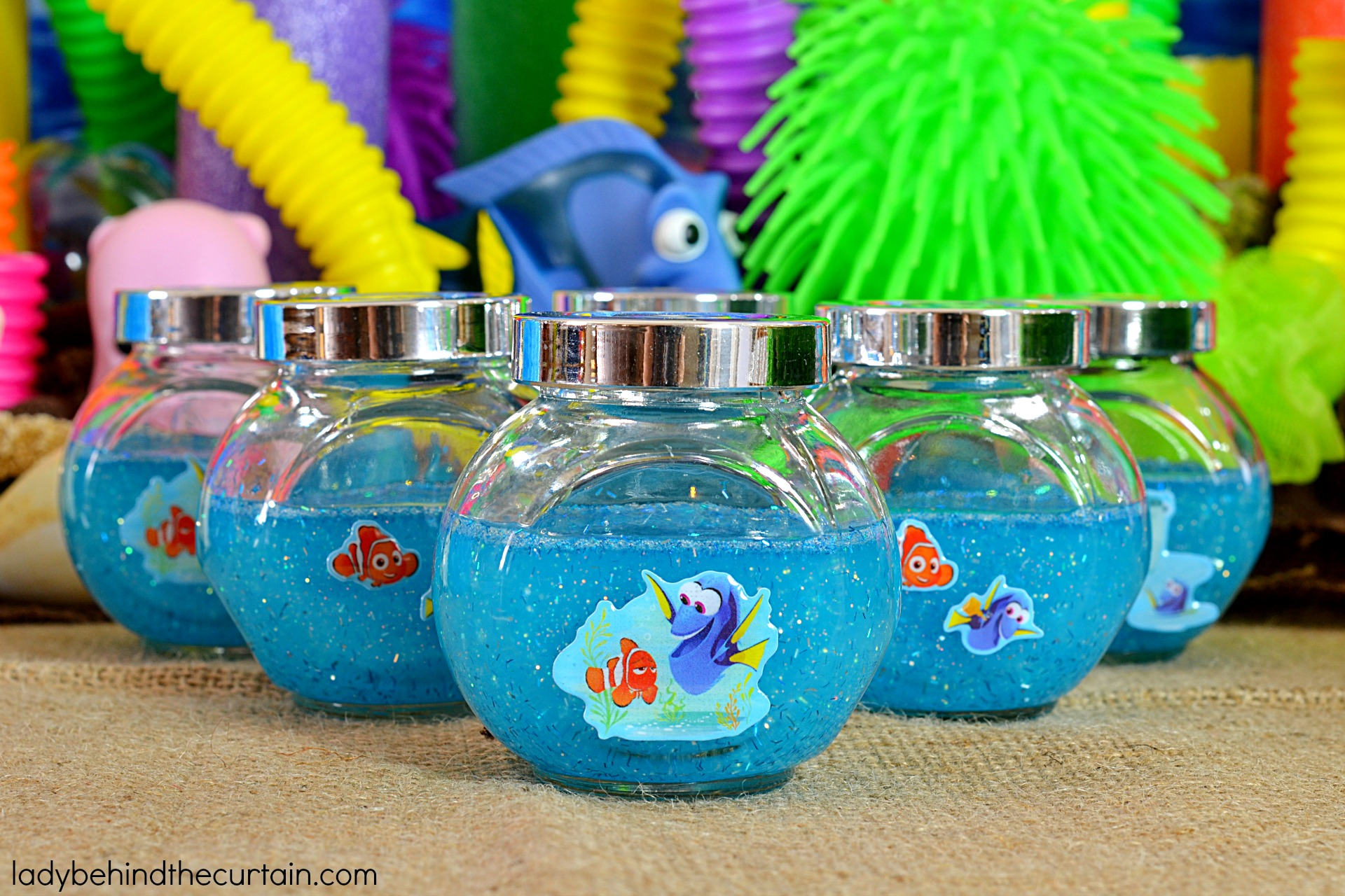 Table Center Pieces How To Make Finding Dory Glitter Slime