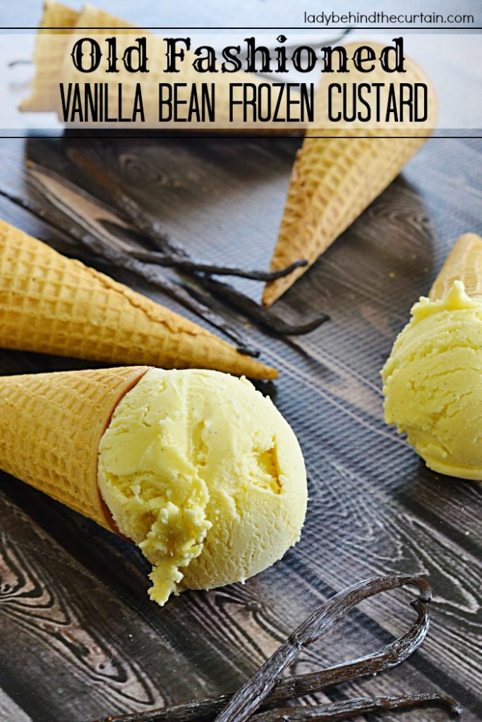 Old Fashioned Vanilla Bean Frozen Custard | Just like Grandma used to make!
