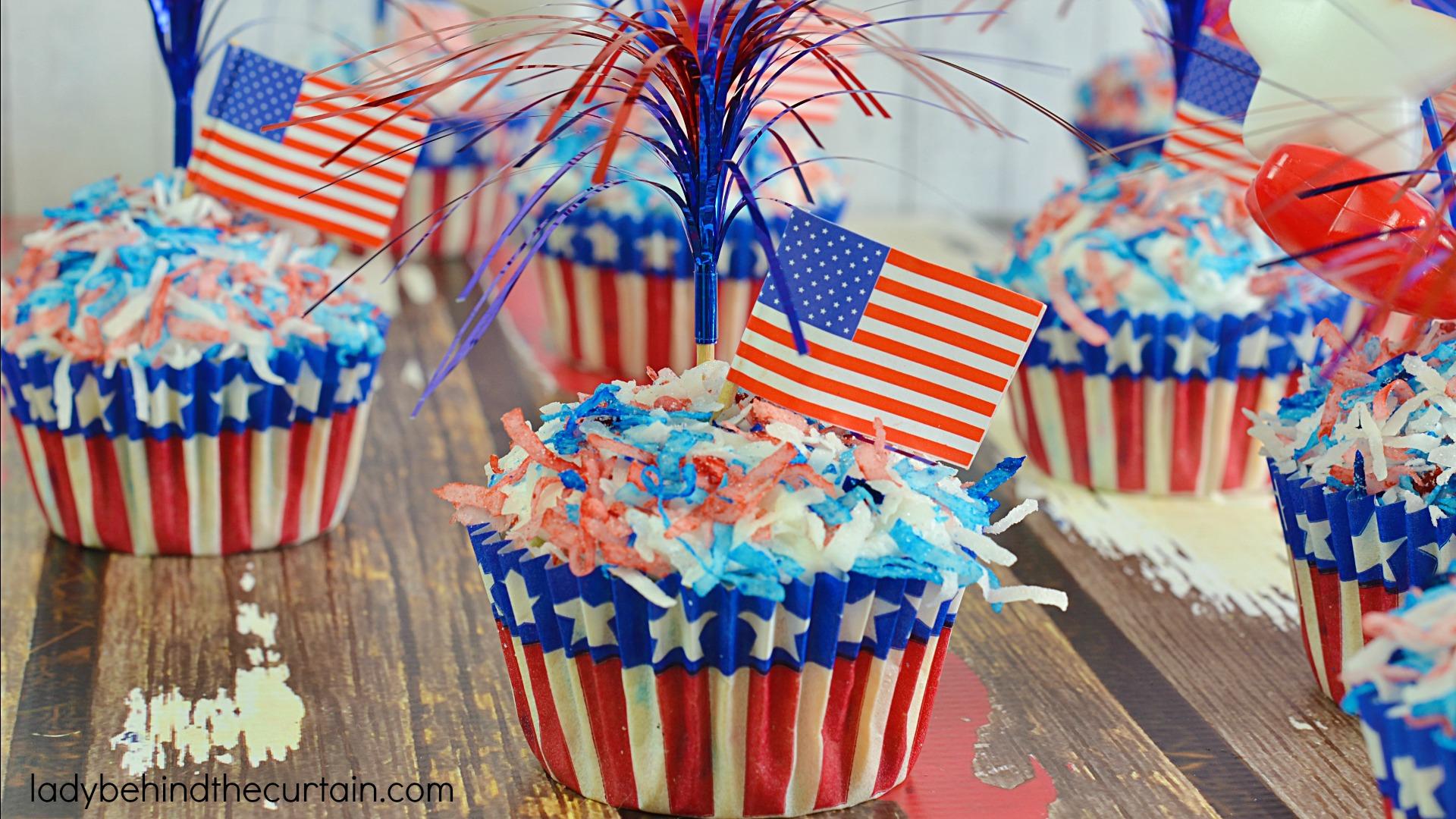 Raspberry Coconut Zinger Cupcakes