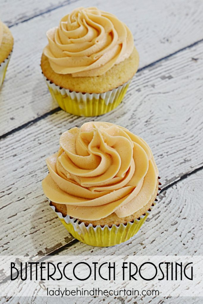 Butterscotch Frosting | Add a pop of flavor to your pumpkin bread, carrot cake cupcakes or even on BUTTERBEER Cupcakes! With this creamy delicious Butterscotch Frosting!