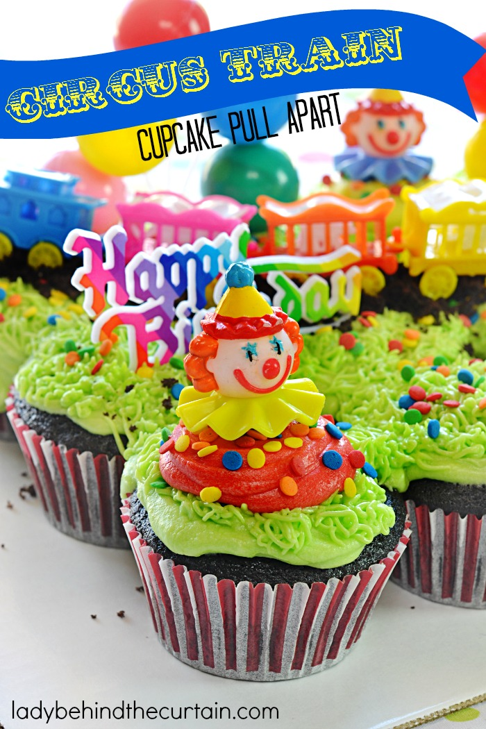 circus train devil s food cupcake pull apart
