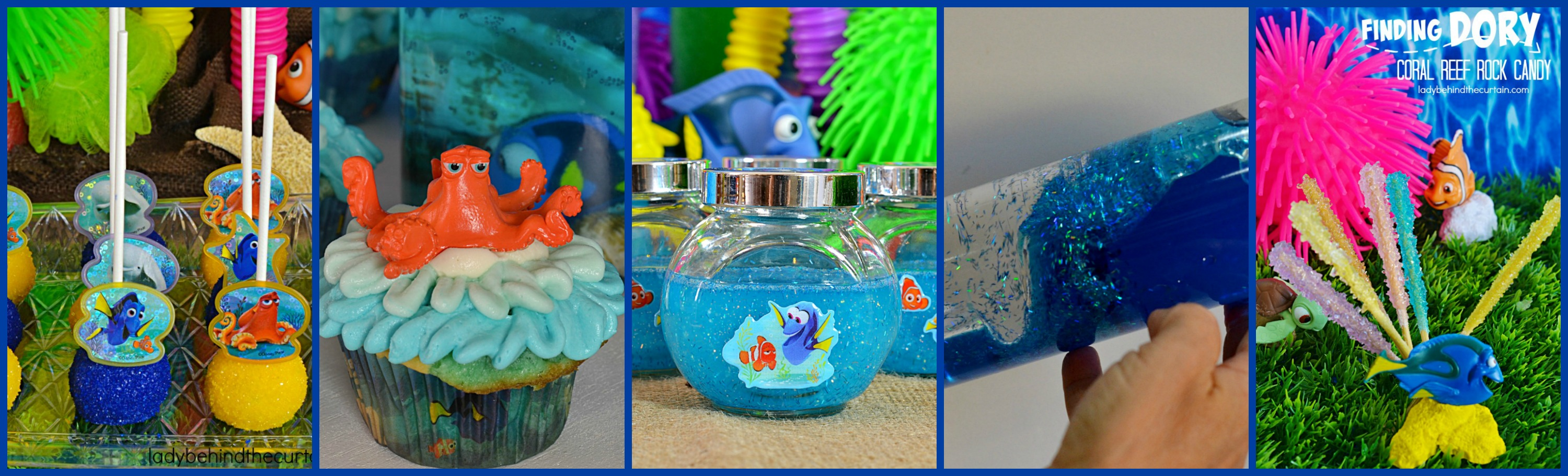 Ocean in a bottle party favor 5 finding dory coral reef rock candy