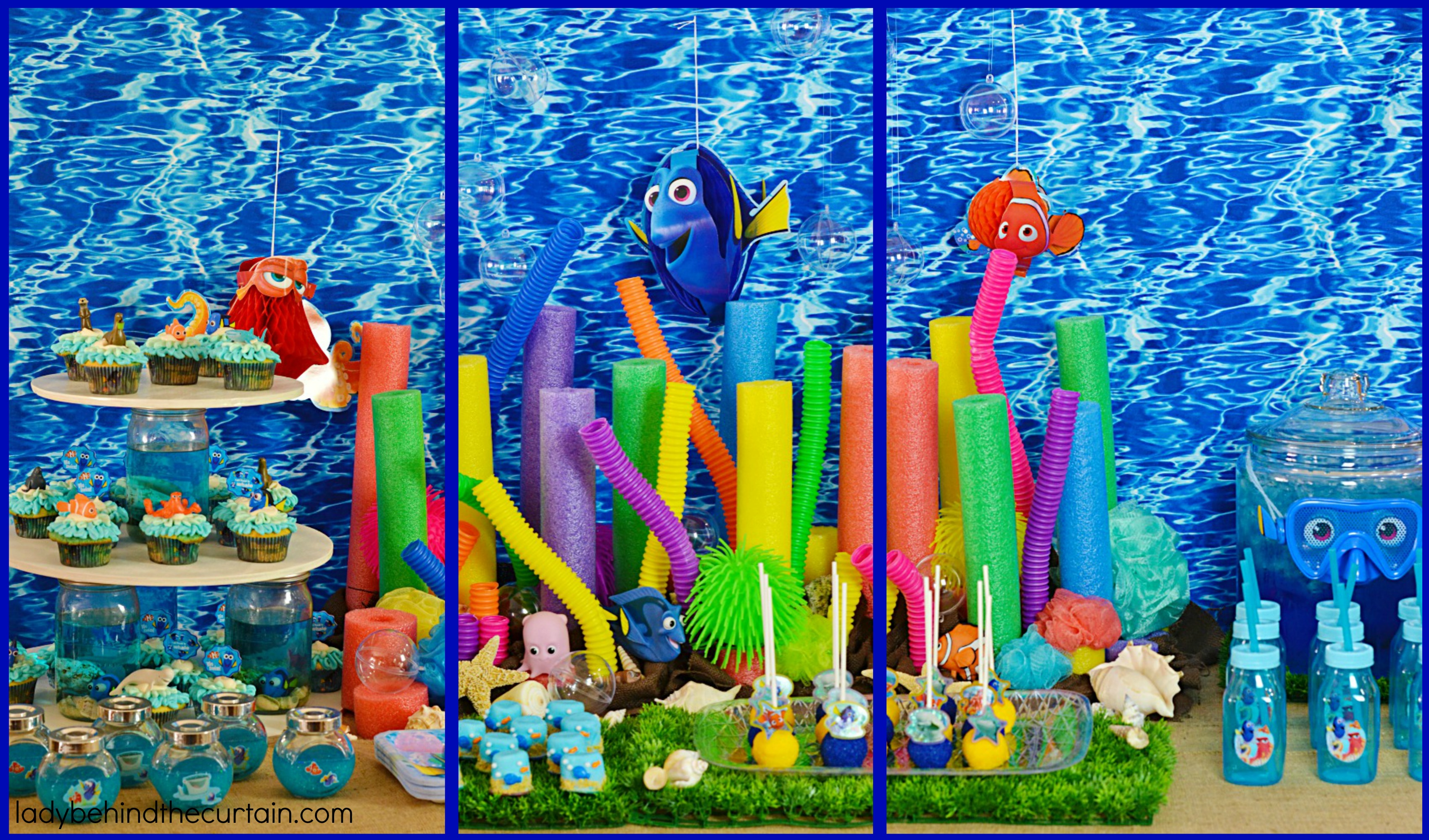 Finding dory party ideas for Nemo decorations