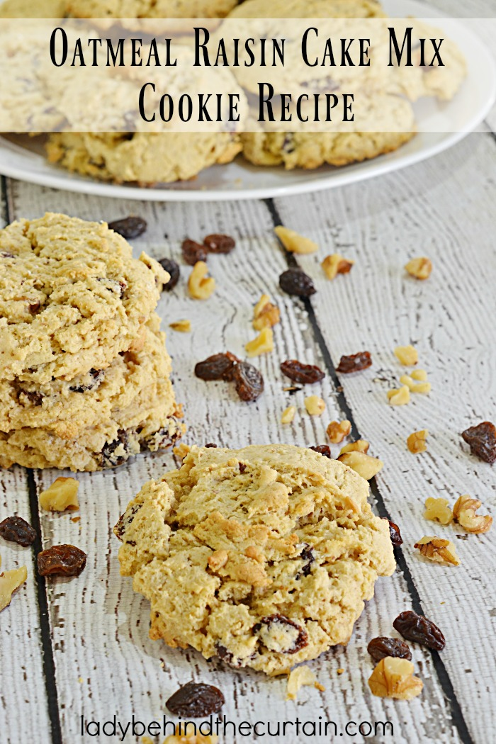 Oatmeal Raisin Cake Mix Cookie Recipe | One of Americans favorite cookies just got a make over and it's better then ever!