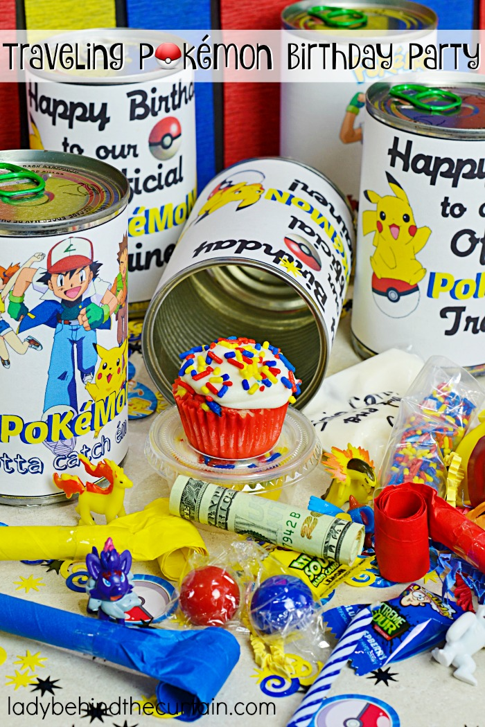 Traveling Pokémon Go Birthday Party | Send a fun filled Pokémon party to someone or hand them out to your guests as a party favor!