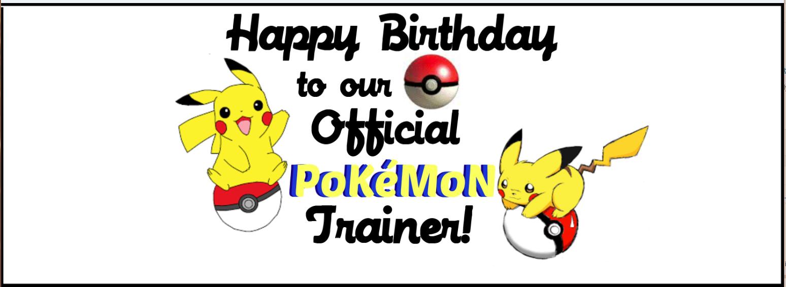 Traveling Pokemon Go Birthday Party Label