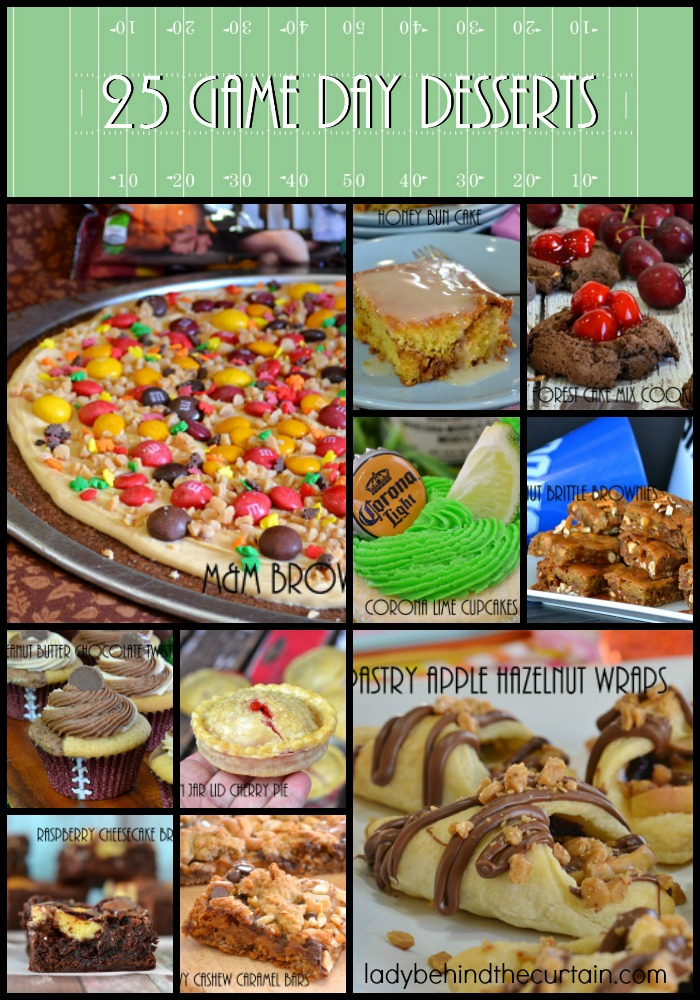 25 Game Day Desserts | It's Fall and that means one thing FOOTBALL! Enjoy this collection of desserts that are perfect for tailgating and football parties.