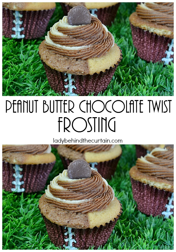 Peanut Butter Chocolate Twist Frosting