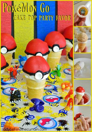 Pokémon Go Cake Pop Party Favor | Gotta Catch The All! These fun Poké Ball Party Favors add the perfect touch to a Pokémon Party. This party favor has a hidden surprise inside. A Pokémon toy!