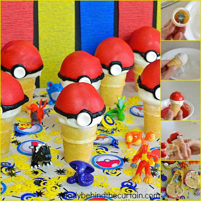 Pokémon Go Cake Pop Party Favor | Gotta Catch The All! These fun Poké Ball Party Favors add the perfect touch to a Pokémon Party. This party favor has a hidden surprise inside. A Pokémon toy!