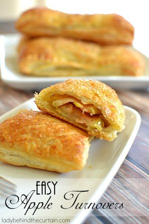Easy Apple Turnovers | Crispy and flaky on the outside, gooey on the inside! These Easy Apple Turnovers are delicious and so easy to make you're going to want to make them every weekend.