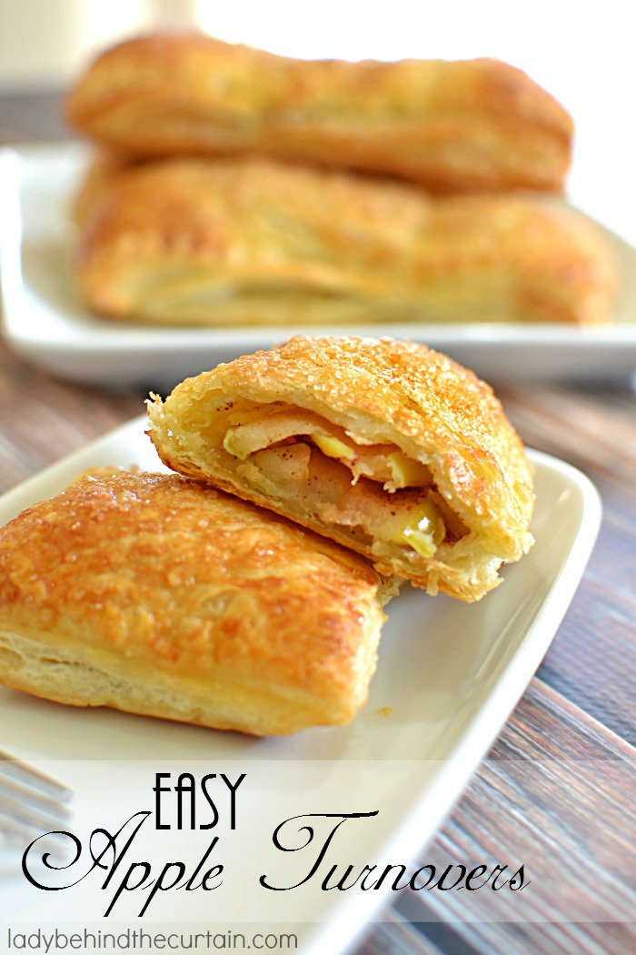 Easy Apple Turnovers   Crispy and flaky on the outside, gooey on the inside! These Easy Apple Turnovers are delicious and so easy to make you're going to want to make them every weekend.
