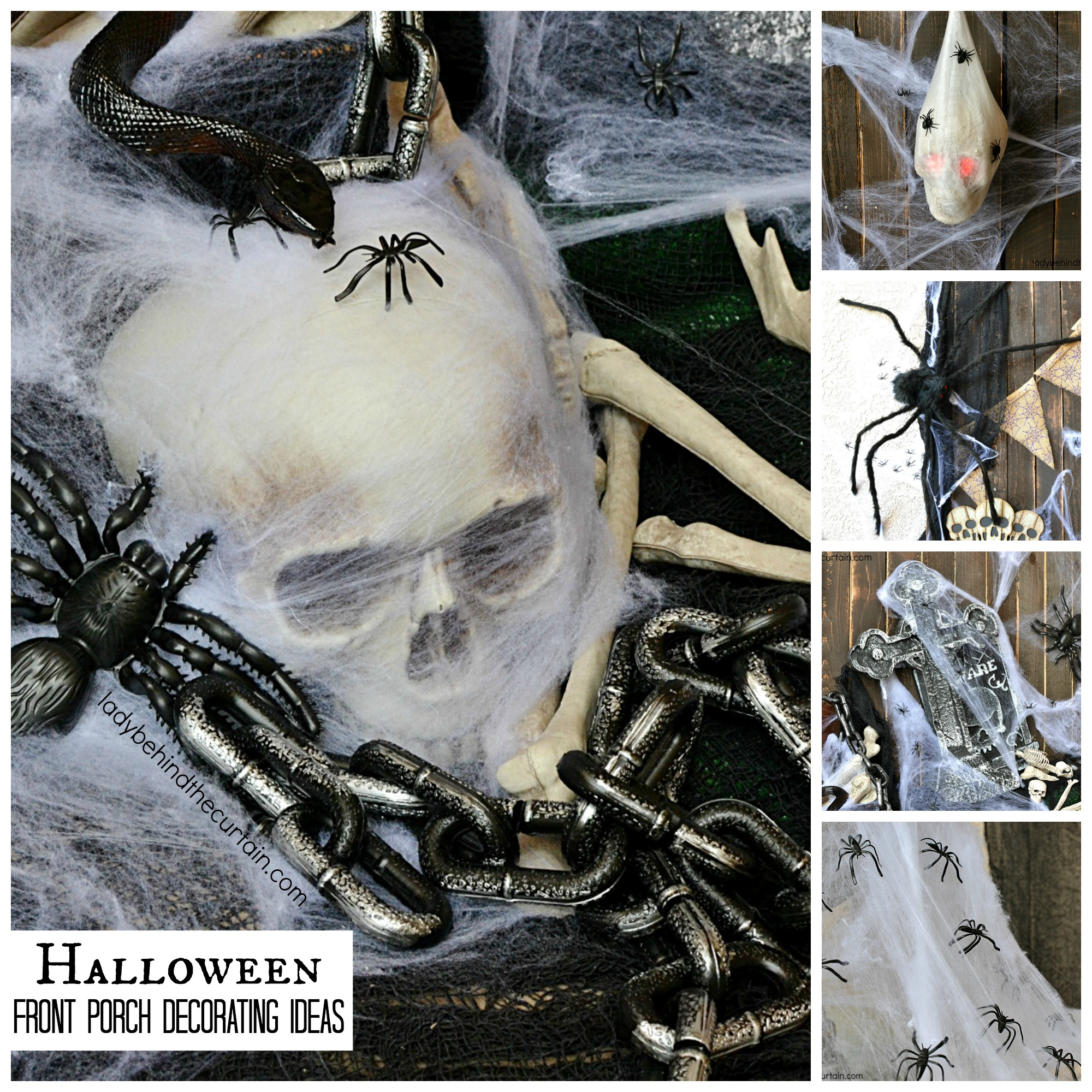 halloween front porch decorating ideas the theme for this creepy halloween front porch is bones