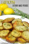 Lemony Leftover Baked Potatoes | Something new to try with your leftover baked potatoes! These potatoes are also perfect for dinner parties.