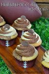 Peanut Butter Chocolate Twist Cupcakes | When two of your favorite flavors come together to create the BEST cupcake EVER!