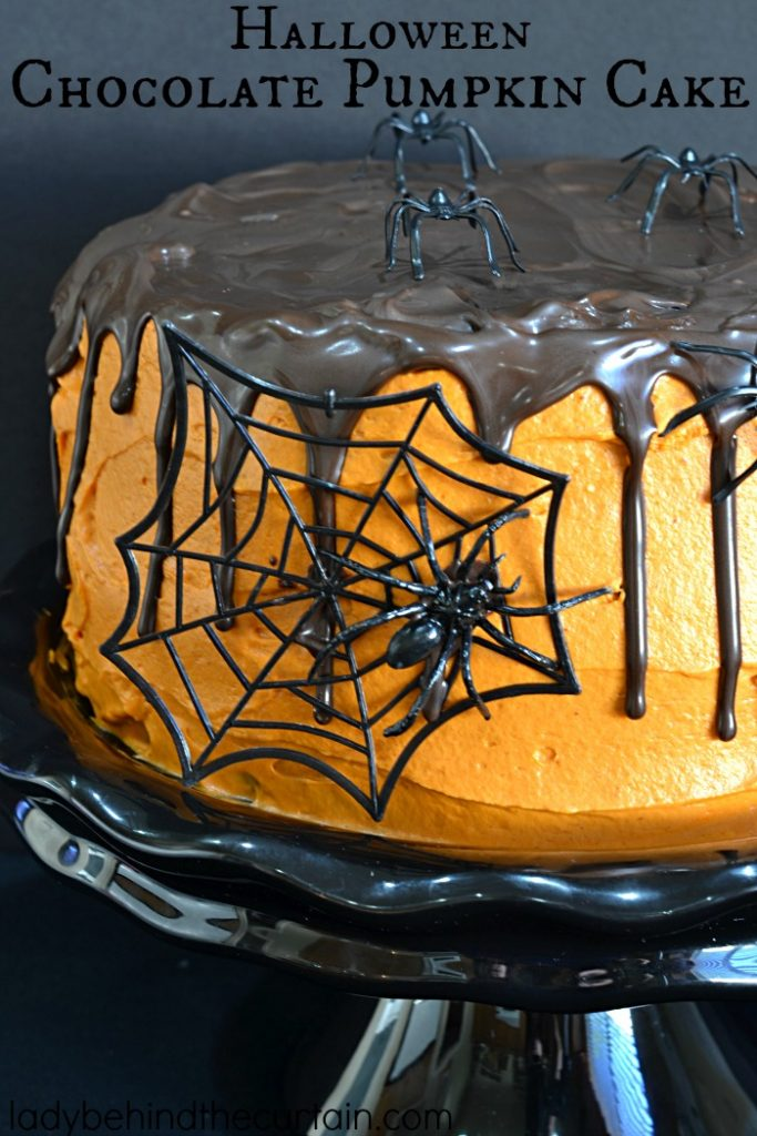 Halloween Chocolate Pumpkin Cake