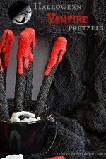 Halloween Vampire Pretzels