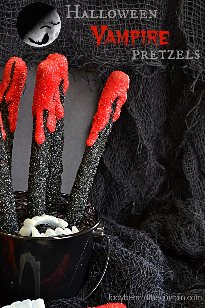 halloween vampire pretzels. Black Bedroom Furniture Sets. Home Design Ideas
