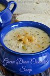 Green Been Casserole Soup | Transform this holiday classic into a soup!