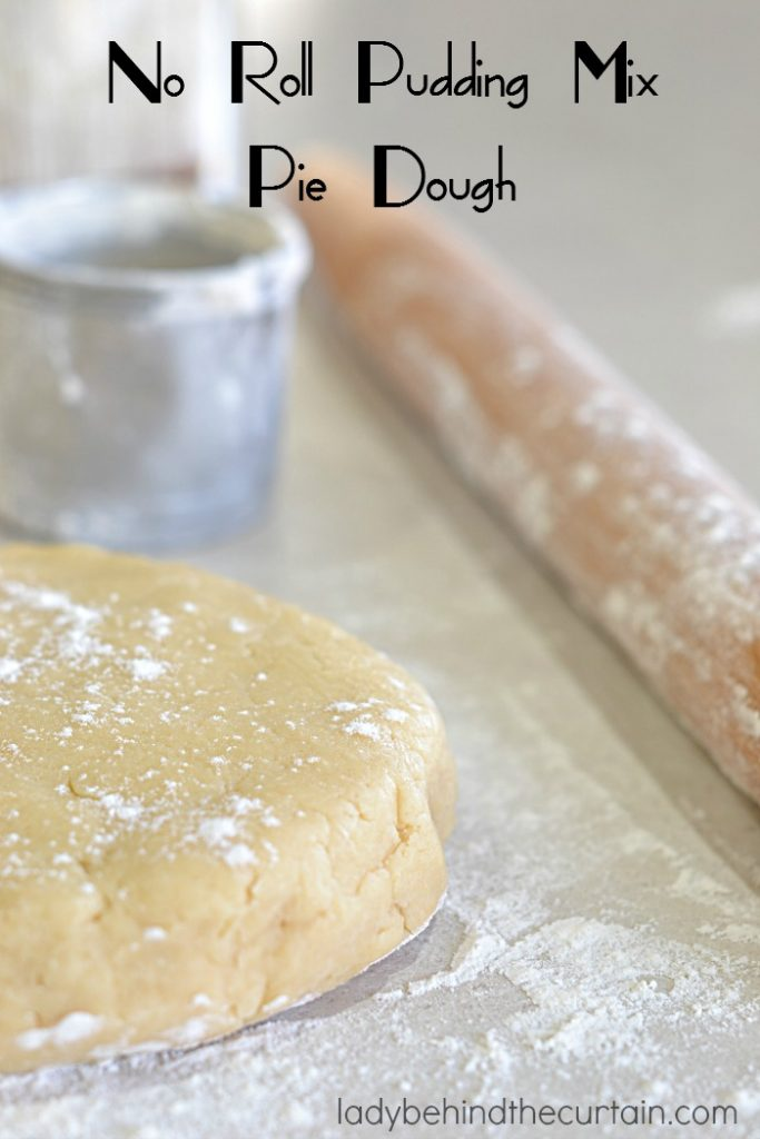 No Roll Pudding Mix Pie Dough   Ready to add some fun flavor to your pie?