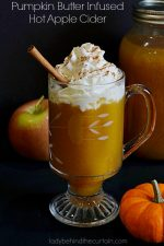 Pumpkin Butter Infused Hot Apple Cider