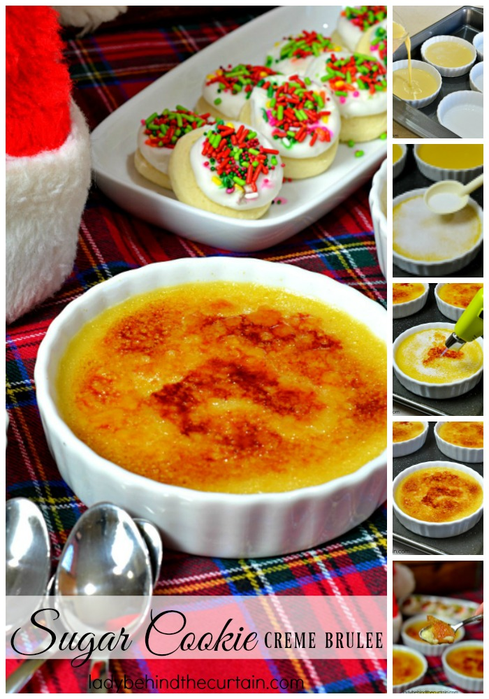 Sugar Cookie Creme Brulee | Instead of leaving cookies for Santa, leave him a Sugar Cookie Creme Brulee!