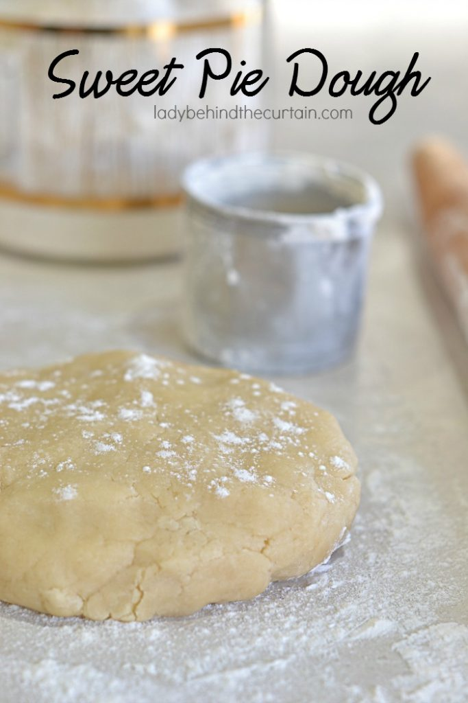 Sweet Pie Dough | With just a hint of sweetness the sugar only enhances the dough flavor without taking away from the pie filling.