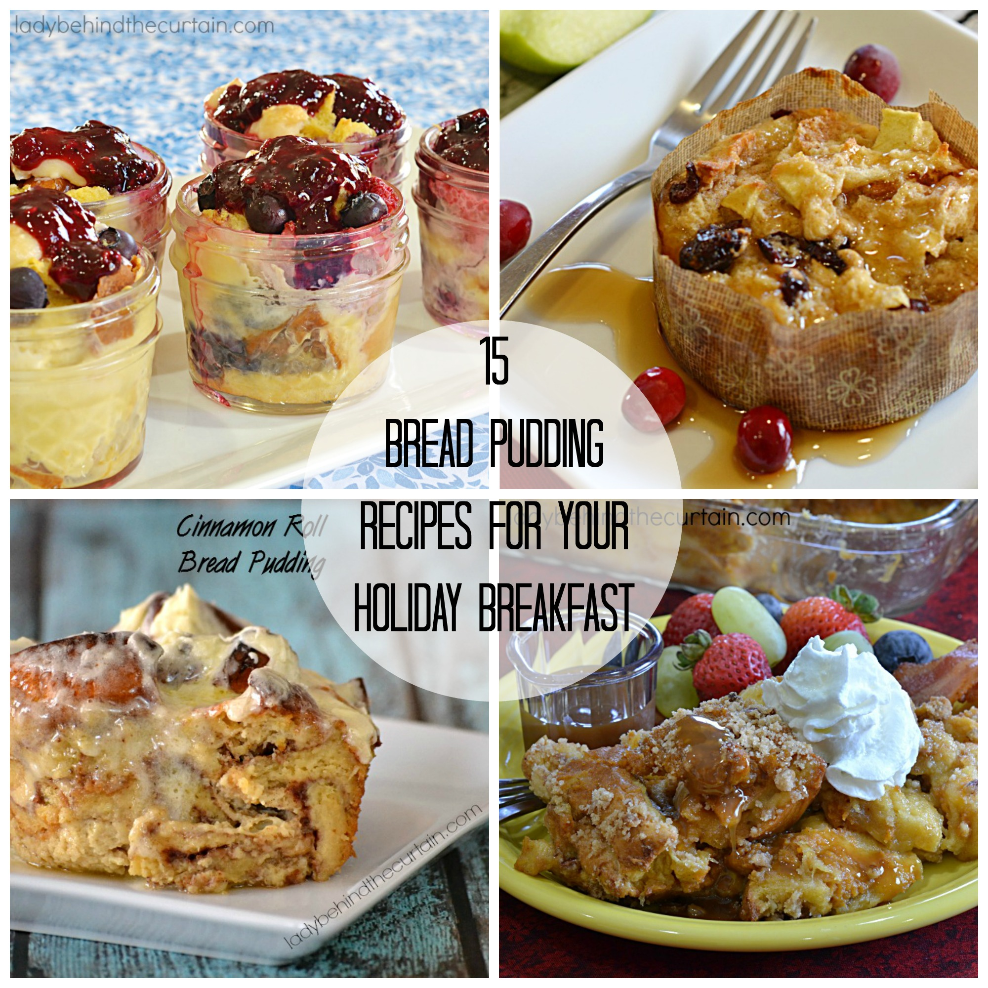15 Bread Pudding Recipes for Your Holiday Breakfast | From sweet to savory you can not deny that bread pudding is one of Americas favorite breakfast comfort foods.