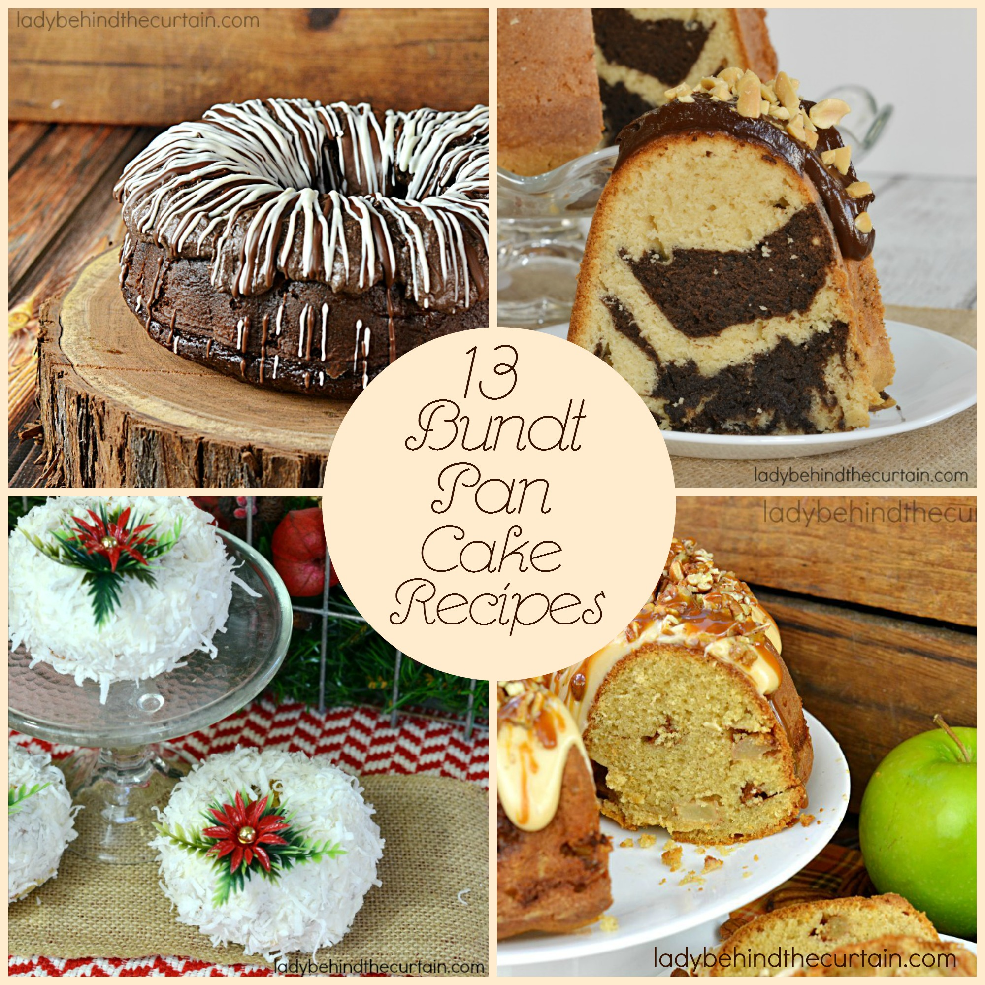 13 Bundt Pan Cake Recipes | From bite size cakes to full size cakes this round up is full of all kinds of cake recipes to help you find the perfect cake for you!