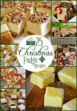25 Christmas Fudge Recipes | Giving fudge as a gift is a wonderful thing. This simple gesture brings joy to an elderly persons heart, or a little pep to the Mail persons step and cheer to anyone who receives a homemade gift.