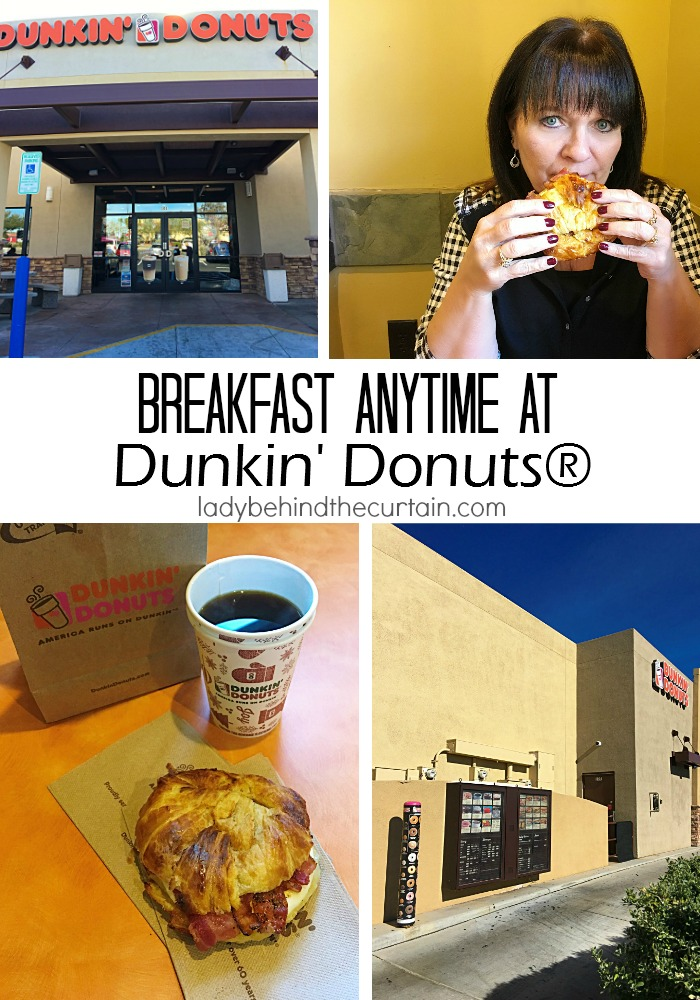 Breakfast Anytime at Dunkin' Donuts