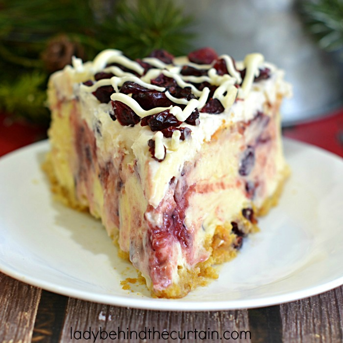 Cranberry Bliss Cheesecake | Dazzle your guests with a delicious Holiday Cheesecake and transform your favorite Holiday Starbucks treat!
