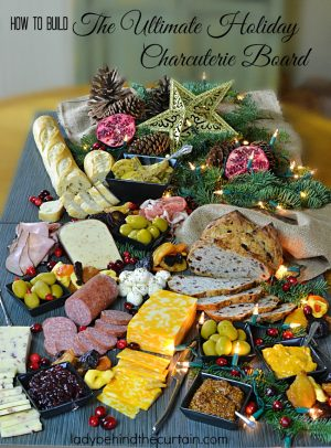 How to Build the Ultimate Holiday Charcuterie Board | When it comes to creating a fun party atmosphere I always turn to a Charcuterie Board. This wonderful board is filled with an assortment of meats, cheeses, spreads, dried fruit and more.
